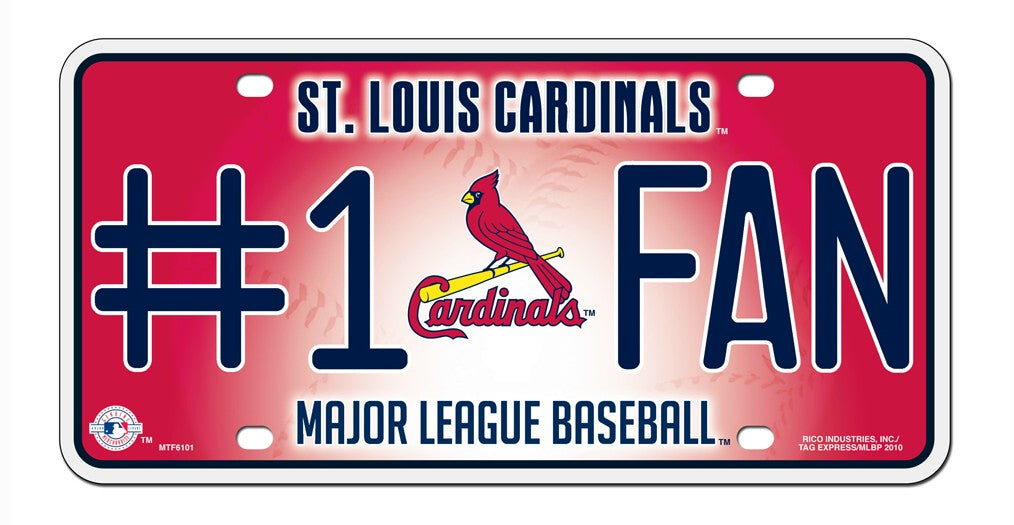 St. Louis Cardinals License Plate #1 Fan - Rico Industries