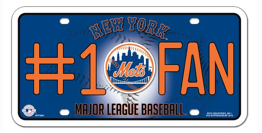 New York Mets License Plate #1 Fan - Rico Industries