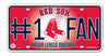 Boston Red Sox License Plate #1 Fan - Rico Industries