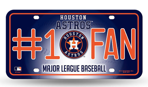 Houston Astros License Plate #1 Fan - Rico Industries