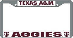 Texas A&M Aggies License Plate Frame Chrome - Rico Industries