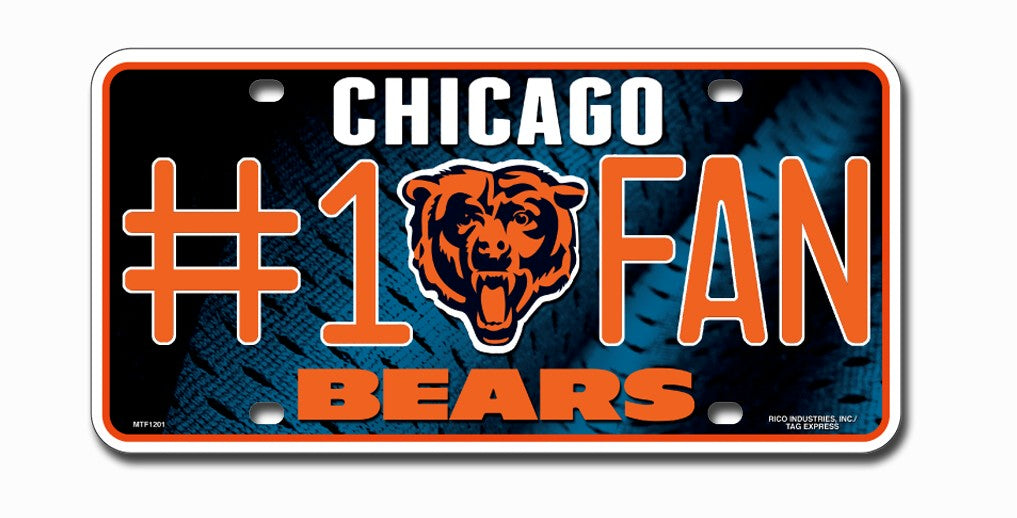Chicago Bears License Plate #1 Fan - Rico Industries