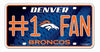 Denver Broncos License Plate #1 Fan - Rico Industries