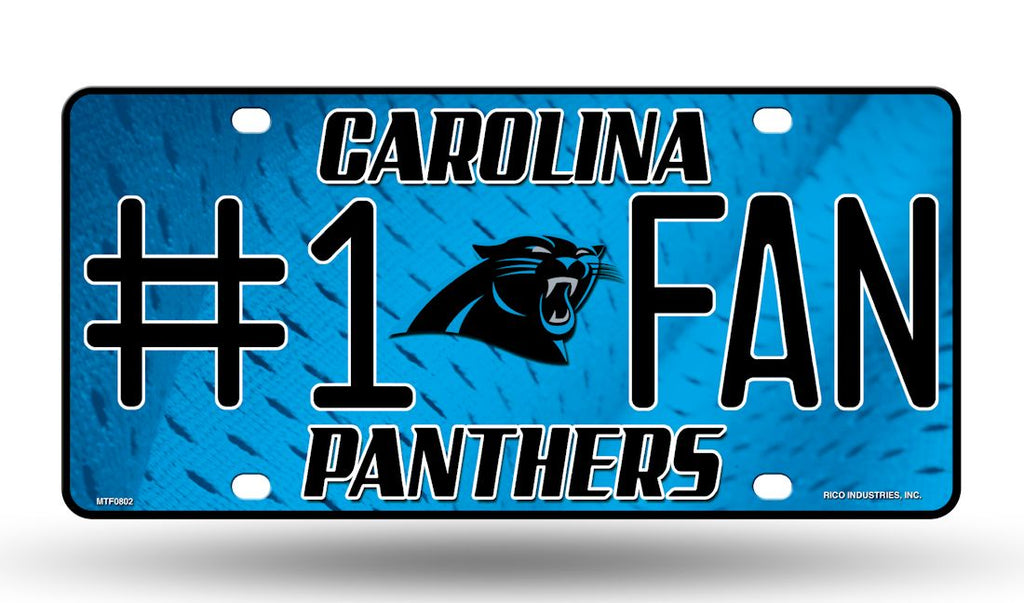 Carolina Panthers License Plate #1 Fan - Rico Industries
