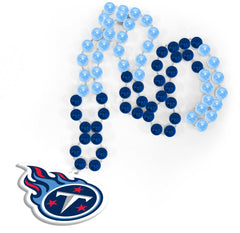 Tennessee Titans Beads with Medallion Mardi Gras Style - Rico Industries