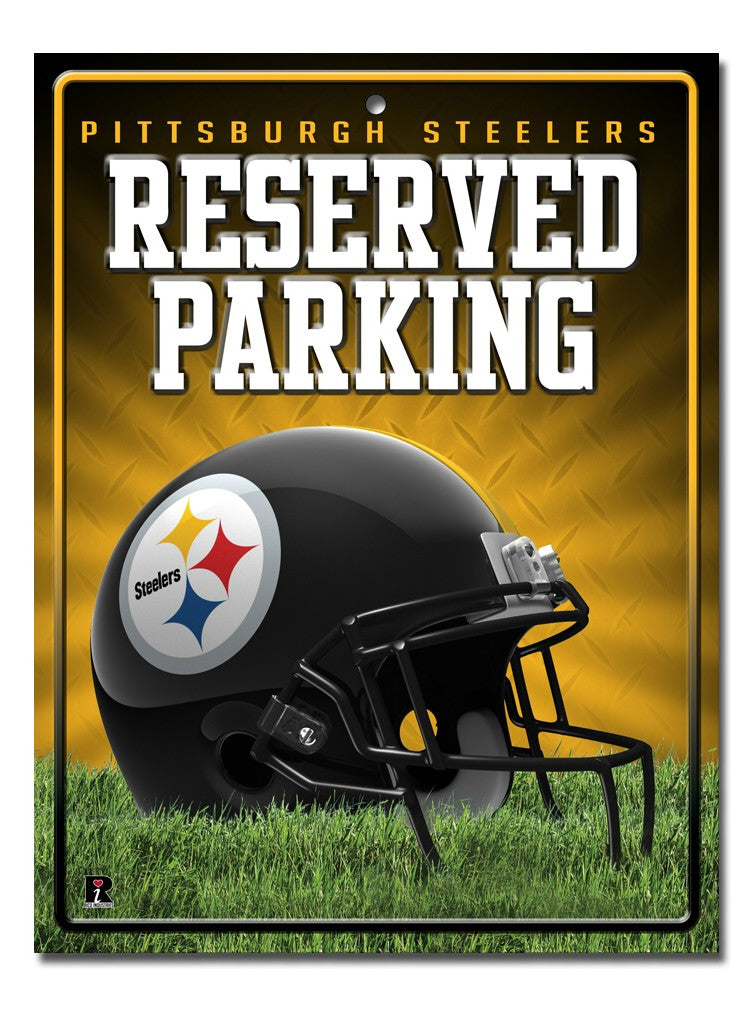 Pittsburgh Steelers Sign Metal Parking - Rico Industries