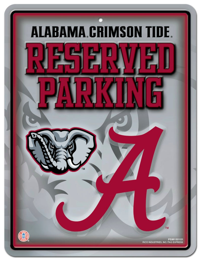 Alabama Crimson Tide Sign Metal Parking - Rico Industries