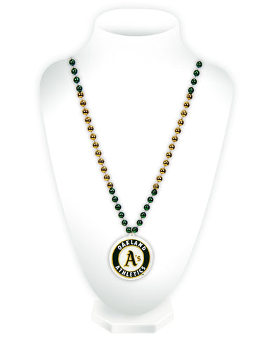 Oakland Athletics Beads with Medallion Mardi Gras Style - Rico Industries