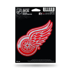 Detroit Red Wings Decal 5.5x5 Die Cut Bling - Rico Industries
