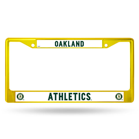Oakland Athletics License Plate Frame Metal Yellow - Rico Industries