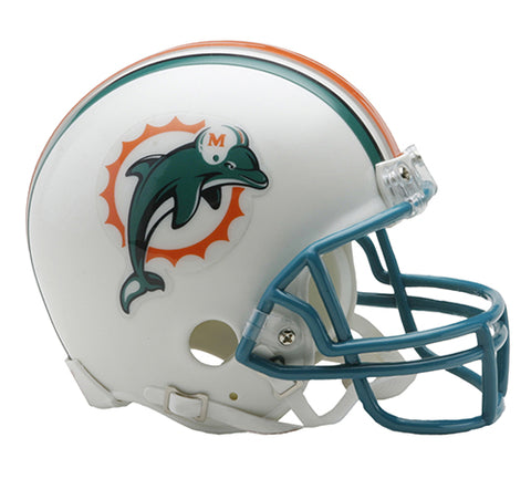 Miami Dolphins 1997-2012 Throwback Replica Mini Helmet w/Z2B Mask - Riddell
