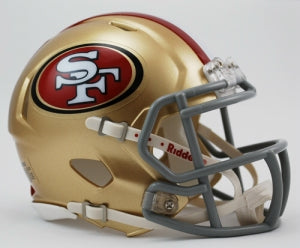 San Francisco 49ers Speed Mini Helmet - Riddell