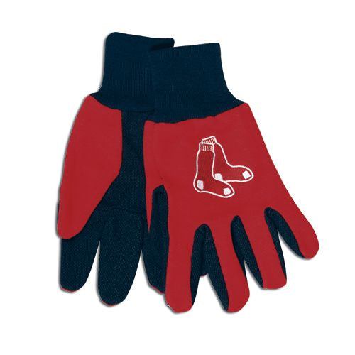Boston Red Sox Two Tone Gloves - Adult Size - Wincraft