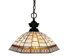 Z-Lite 100701BRZ-Z14-35 Aztec 1 Light Pendant with Bronze Steel Frame