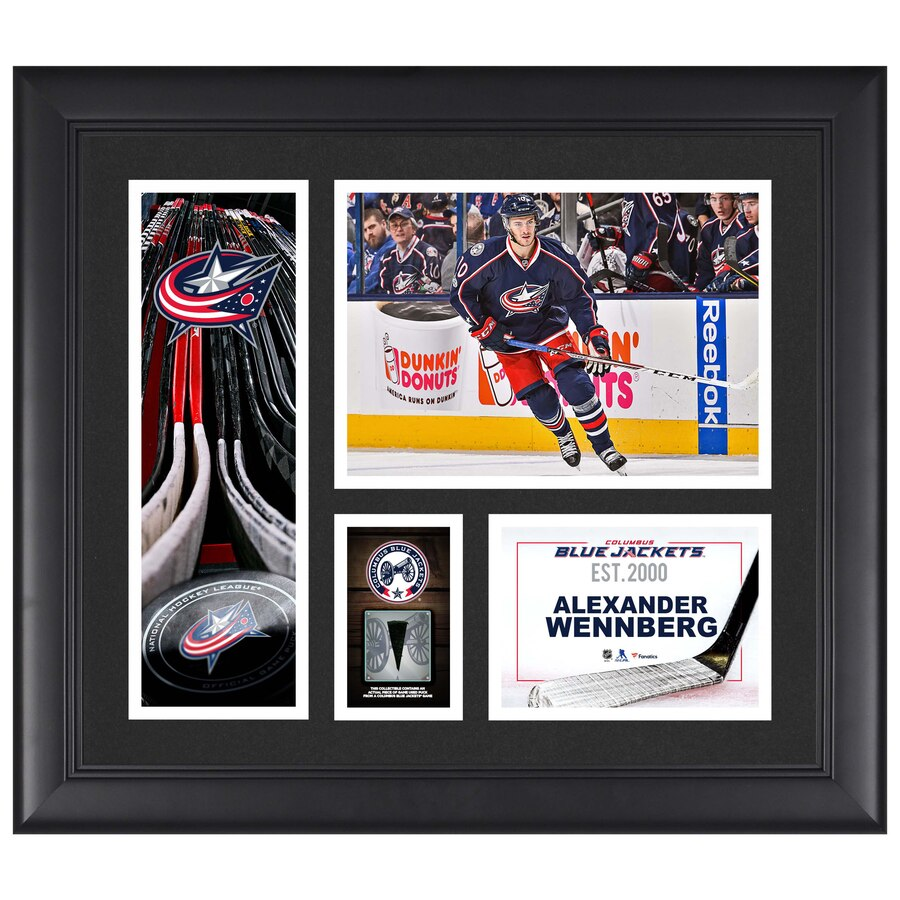 Alexander Wennberg Columbus Blue Jackets Framed 15'' x 17'' Player Collage with a Piece of Game-Used Puck