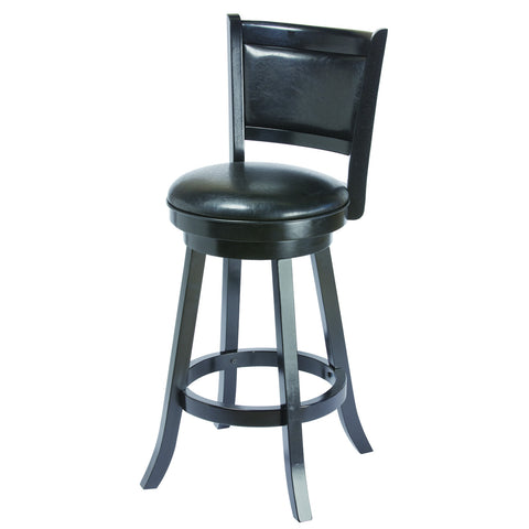 BACKED BARSTOOL - BLACK
