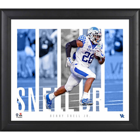Benny Snell Kentucky Wildcats Framed 15'' x 17'' Player Panel Collage