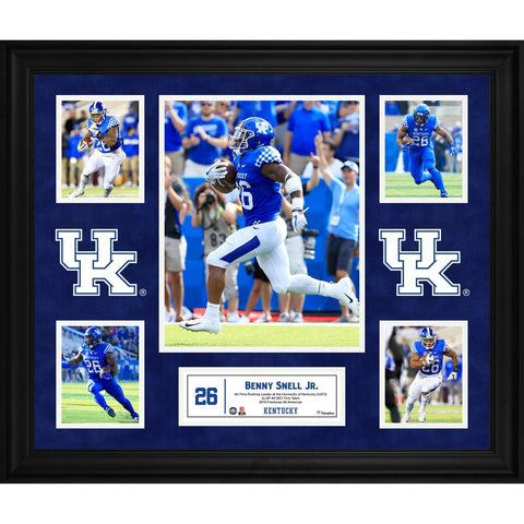 Benny Snell Kentucky Wildcats Framed 23'' x 27'' 5-Photo Collage