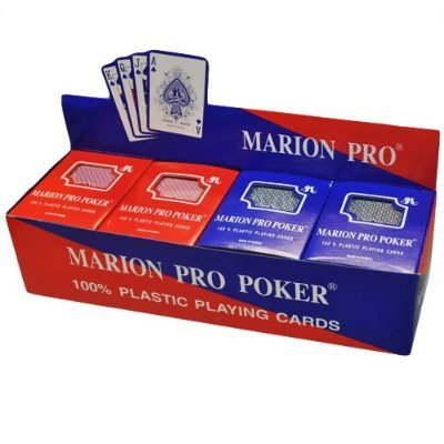 Box of 12 decks of 100% Plastic Marion Pro Poker Playing Cards - Regular index