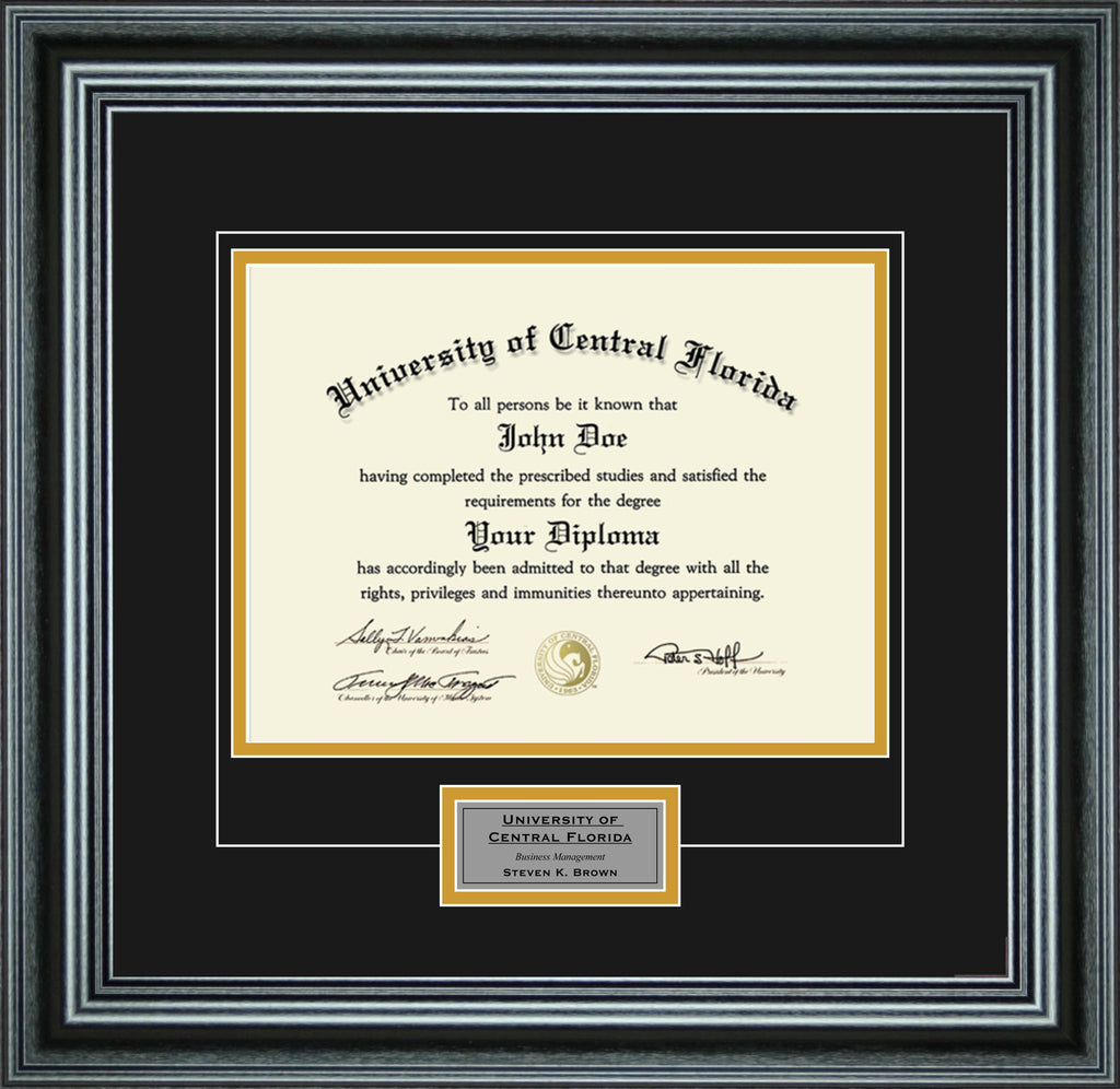 Single Diploma Frame with Engraving for 8.5 x 11 Diploma