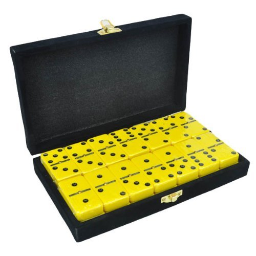 Domino Double Six Yellow in Velvet Case