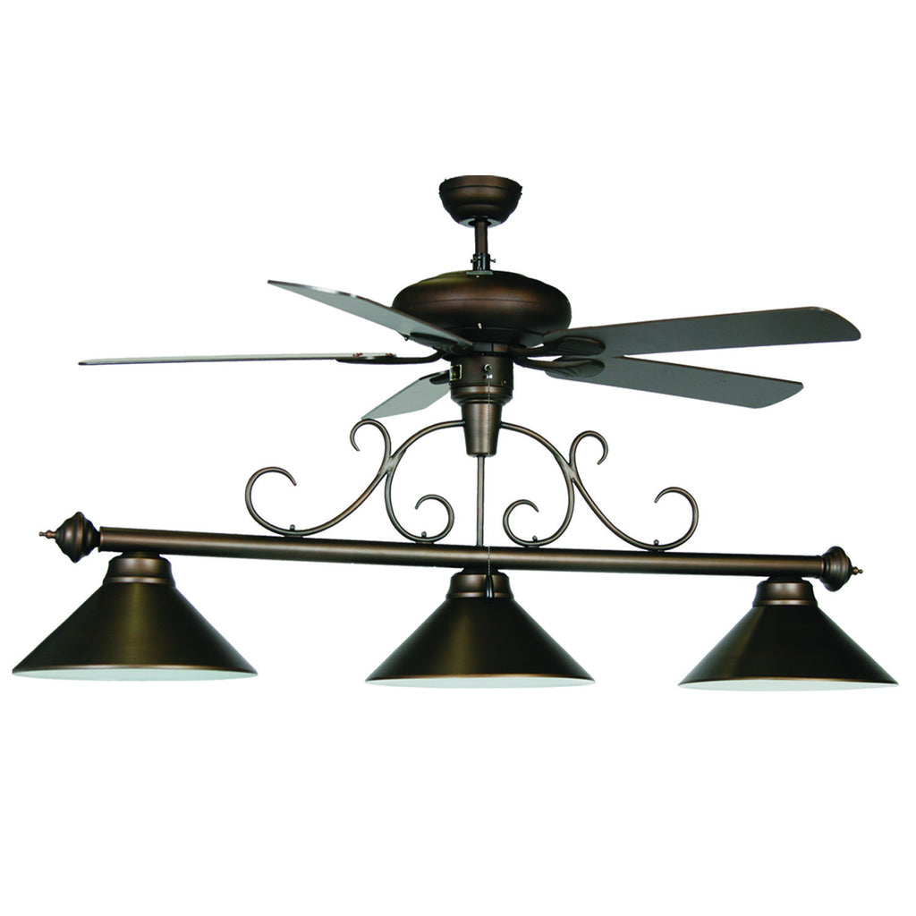58 3 LT BILLIARD LIGHT-WITH FAN