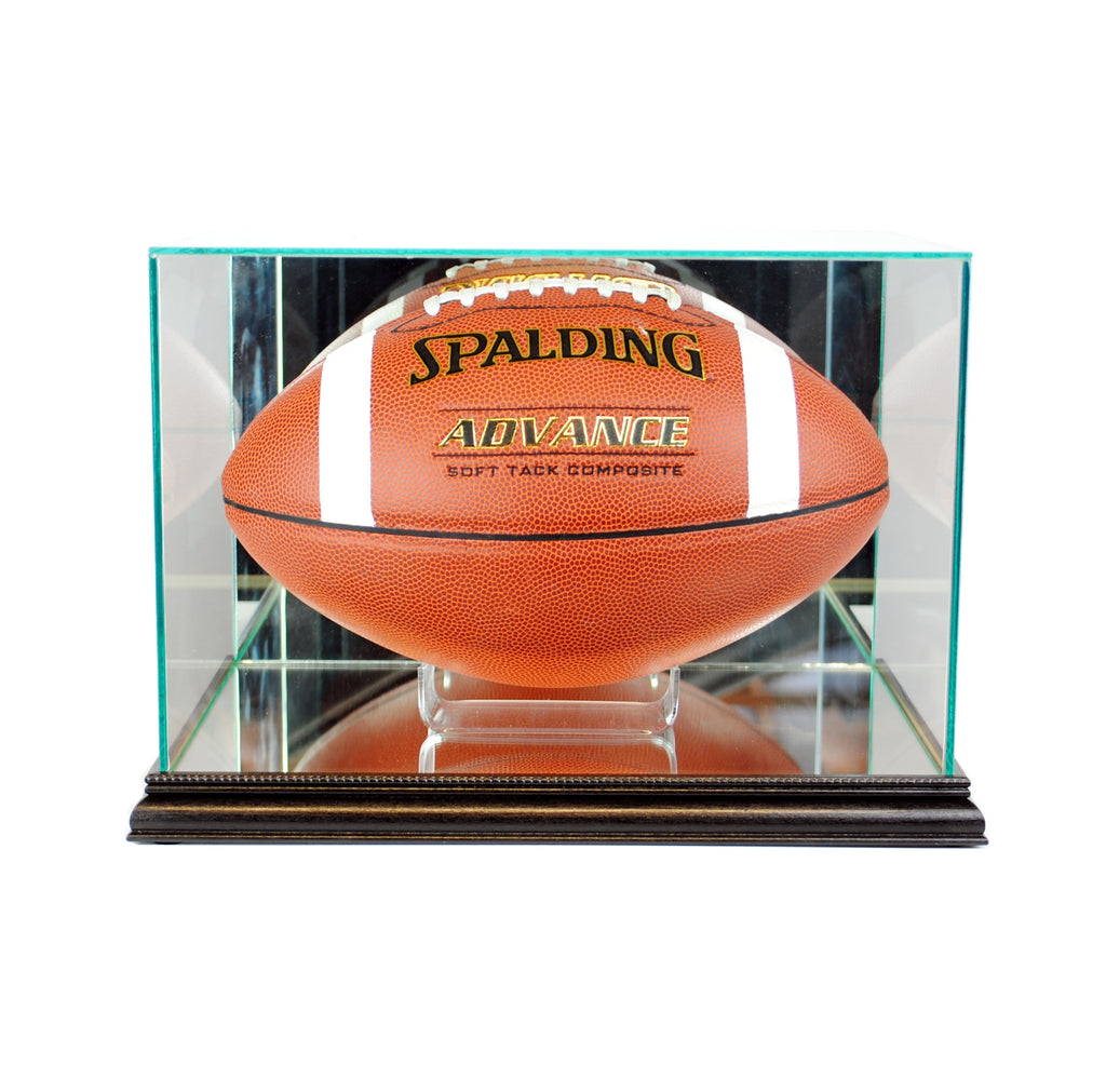 Rectangle Football Display Case with Black Moulding