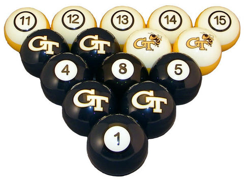 Georgia Tech Billiard Ball Set - NUMBERED
