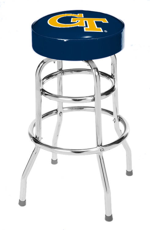 Georgia Tech Double Rung Bar Stool