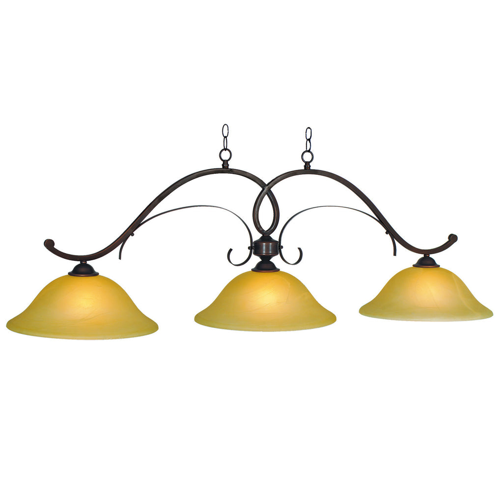 HAWTHORN - 56 3LT BILLIARD LIGHT-OIL RUBBED BRONZE