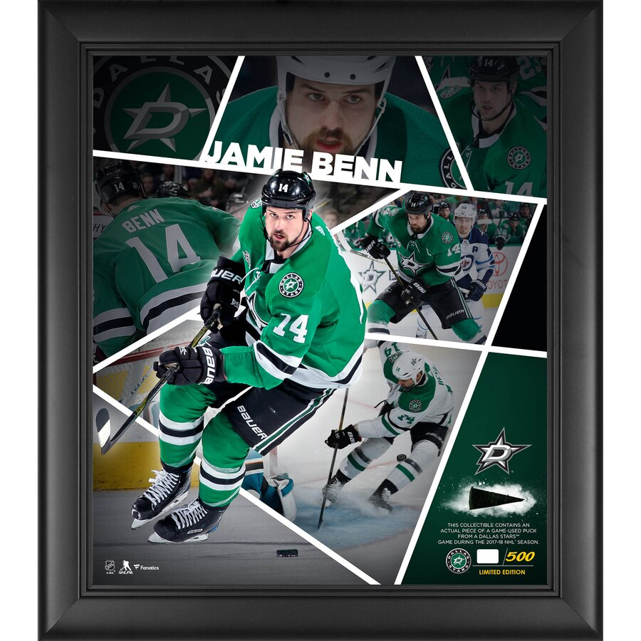 Jamie Benn Dallas Stars Framed 15'' x 17'' Impact Player Collage with a Piece of Game-Used Puck - Limited Edition of 500