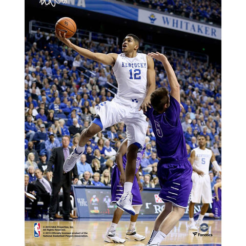 Karl Anthony-Towns Kentucky Wildcats Unsigned Vertical Layup Photograph