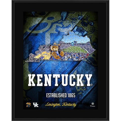 Kentucky Wildcats 10.5'' x 13'' 2018 Sublimated State Plaque