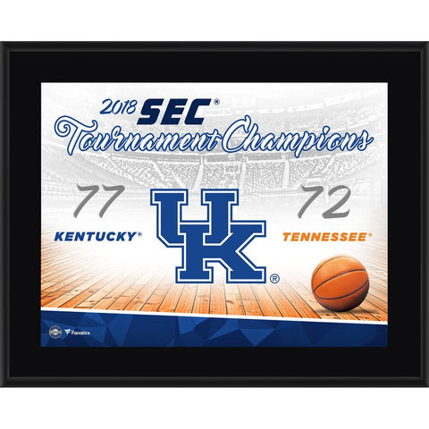Kentucky Wildcats 10.5'' x 13'' 2018 SEC Men's Basketball Tournament Champions Sublimated Plaque