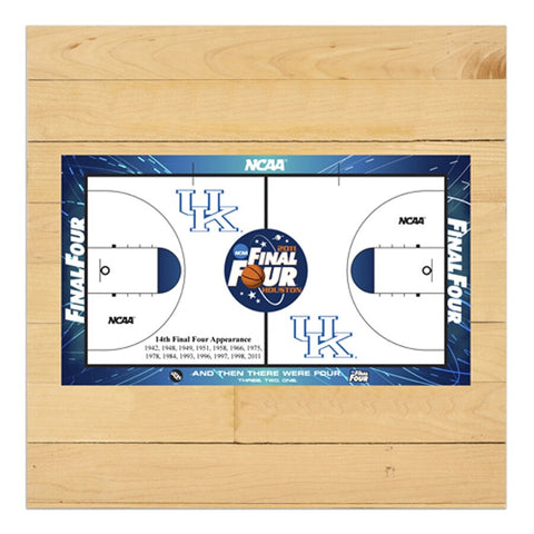 Kentucky Wildcats 2011 Men's Final Four 6'' x 6'' Game Used Court Piece with Floor logo