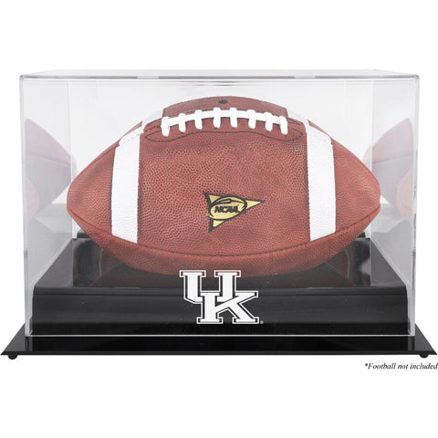 Kentucky Wildcats Black Base Team Logo Football Display Case with Mirror Back
