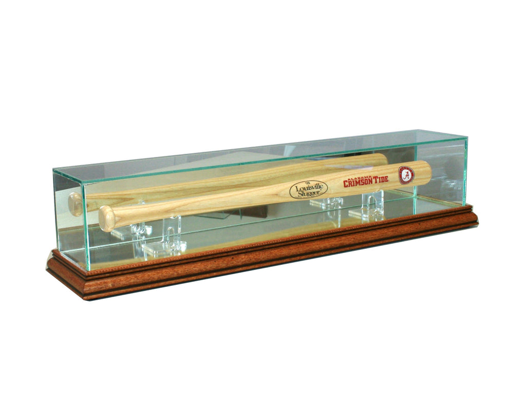 Mini Bat Display Case with Walnut Moulding