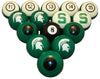 Michigan State Billiard Ball Set - NUMBERED