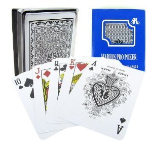 Marion Pro Regular index - 100% Blue Plastic Poker Playing Cards