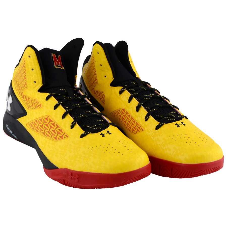 Maryland Terrapins Team-Issued Yellow and Black Clutchfit Drive 2 Shoes - Size 17