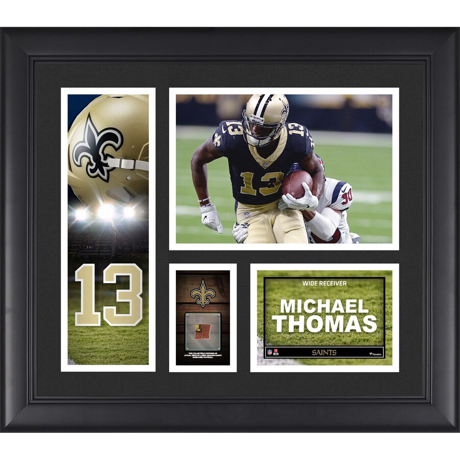 Michael Thomas New Orleans Saints Framed 15'' x 17'' Player Collage with a Piece of Game-Used Football