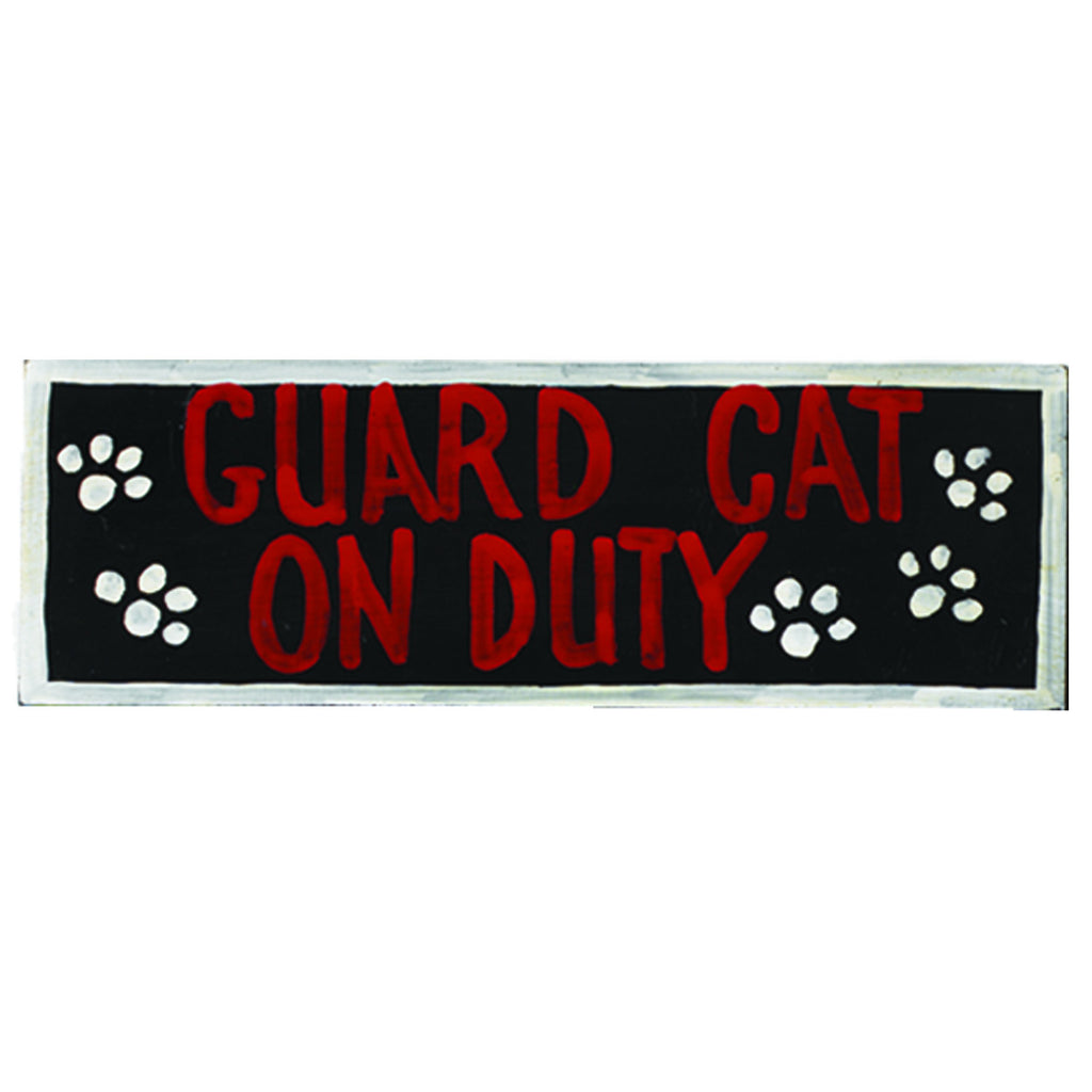 GUARD CAT ON DUY -  WALL SIGN