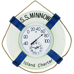 22 W SS MINOW THERMOMETER & CLOCK