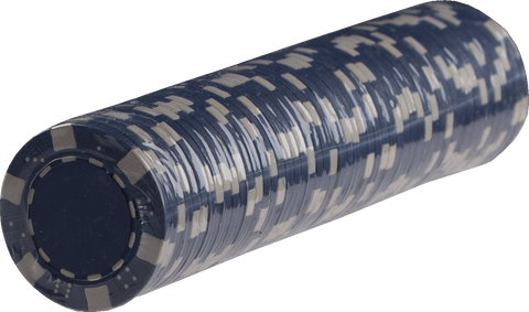 Striped Poker chips - BLUE