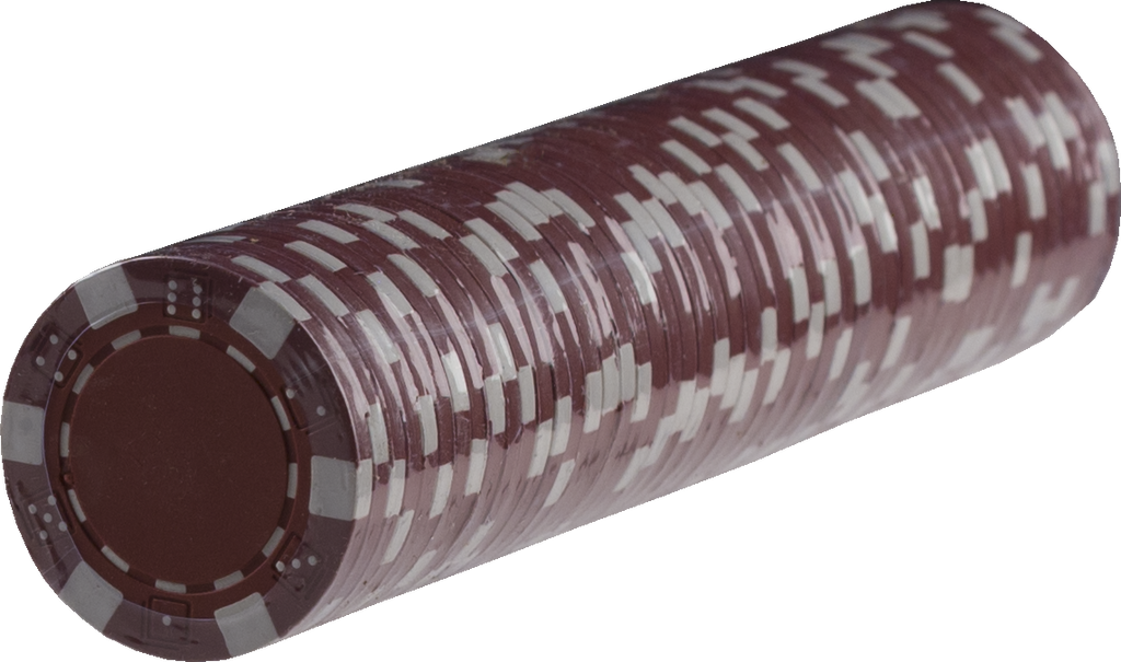 Striped Poker chips - RED