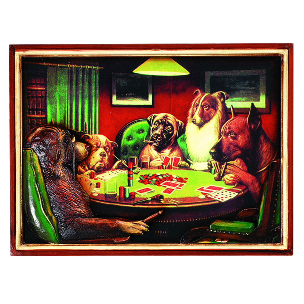 PUB SIGN-POKER DOGS W/ CIGARS