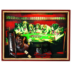 PUB SIGN-POKER DOGS-CARDS UNDER TABLE