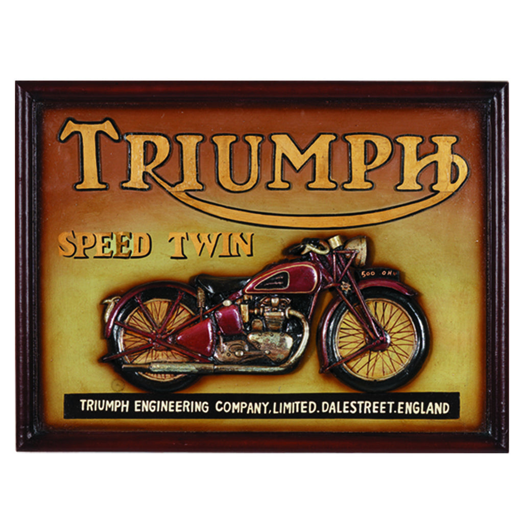 PUB SIGN TRIUMPH SPEED TWIN