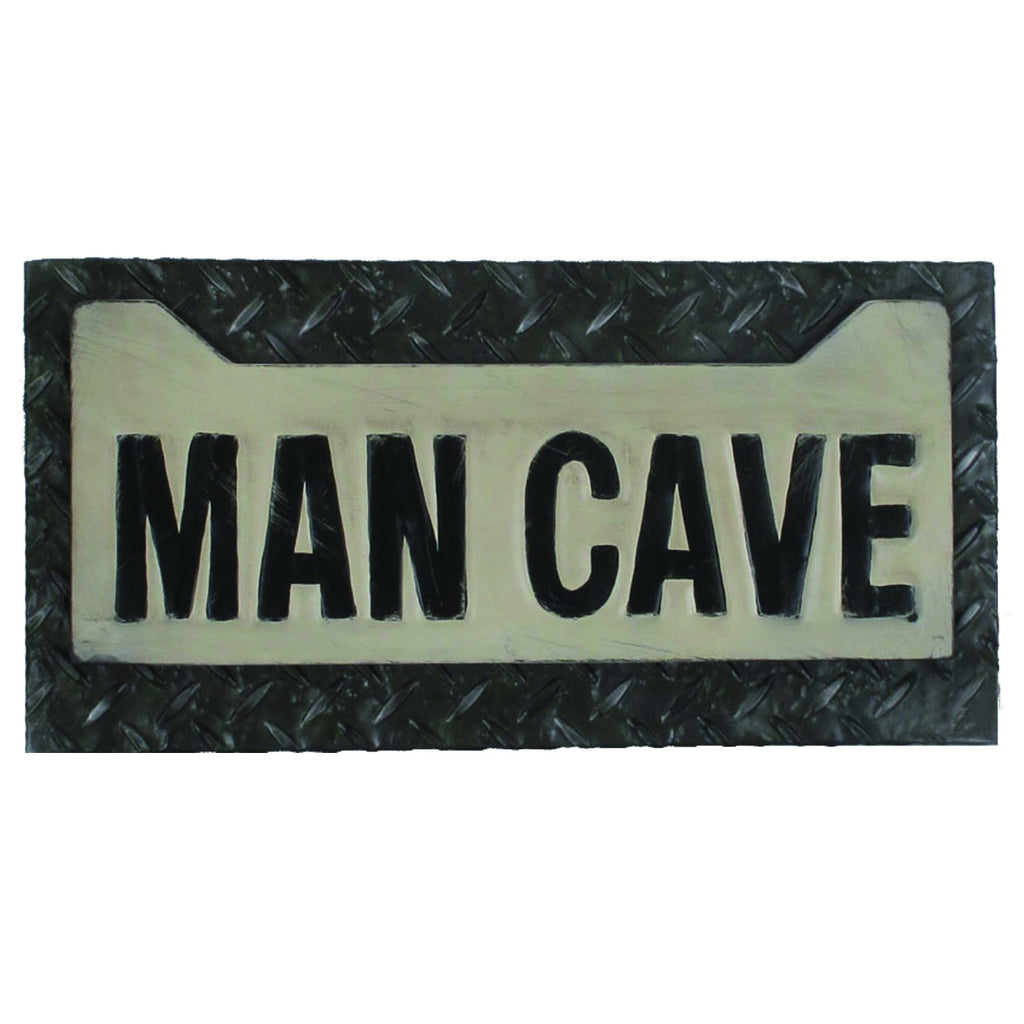 METAL SIGN-MAN CAVE LICENSE PLATE