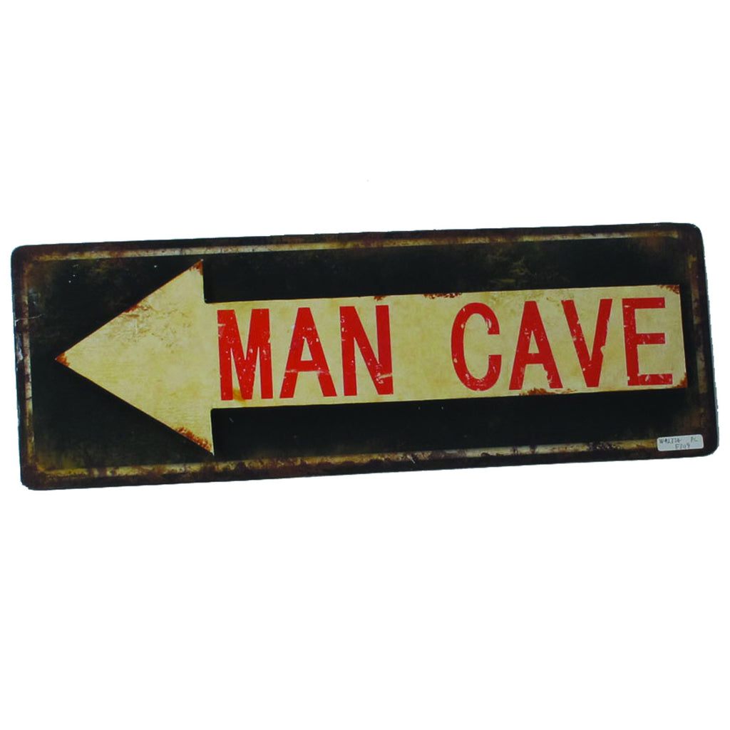 METAL SIGN-MAN CAVE ARROW